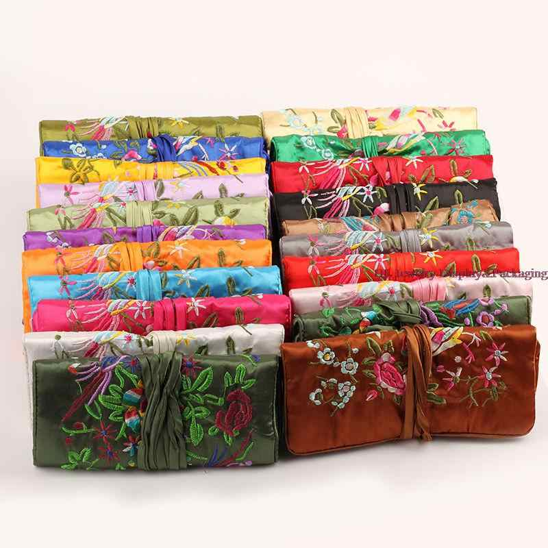 Wholesale Luxury Brand Max Colors Large Satin Jewelry Roll Holder Storage Pack Bag Travel Jewellery Rolls Organizer Bag Bag Famous Bag Beautifulbags On Board Biodegradable Aliexpress