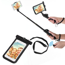 Waterproof Dry Bag Cell Phone Pouch Case & Extendable Selfie Stick with BT Remote Control Lanyard for iPhone Samsung Huawei(China)