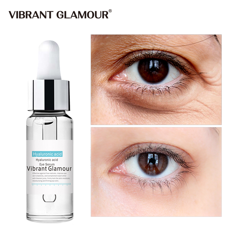 VIBRANT GLAMOUR Hyaluronic Acid Anti-Aging Wrinkles Eye Serum Hydrolyzed Collagen Dark Circles Eye Puffiness Moisture Eye Liquid
