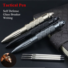 Portable Anti-skid Glass Breaker Self Defense Tactical Writing Pen Outdoor Camping Hiking defensa personal Tools supervivencia