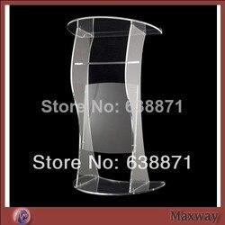 Bezpłatna wysyłka gorący bubel nowoczesna akrylowa ambona/kościelne podium/akrylowa mównica w Biurka do recepcji od Meble na