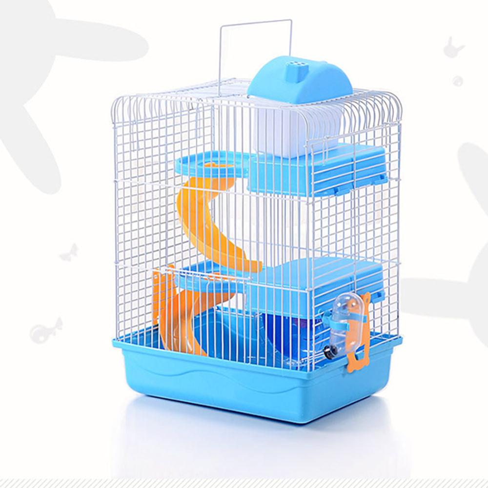 New 3-storey Pet Hamster Cage Luxury House Portable Mice Home Habitat Decoration Large Space Hamster Accessories Nontoxic 23x45