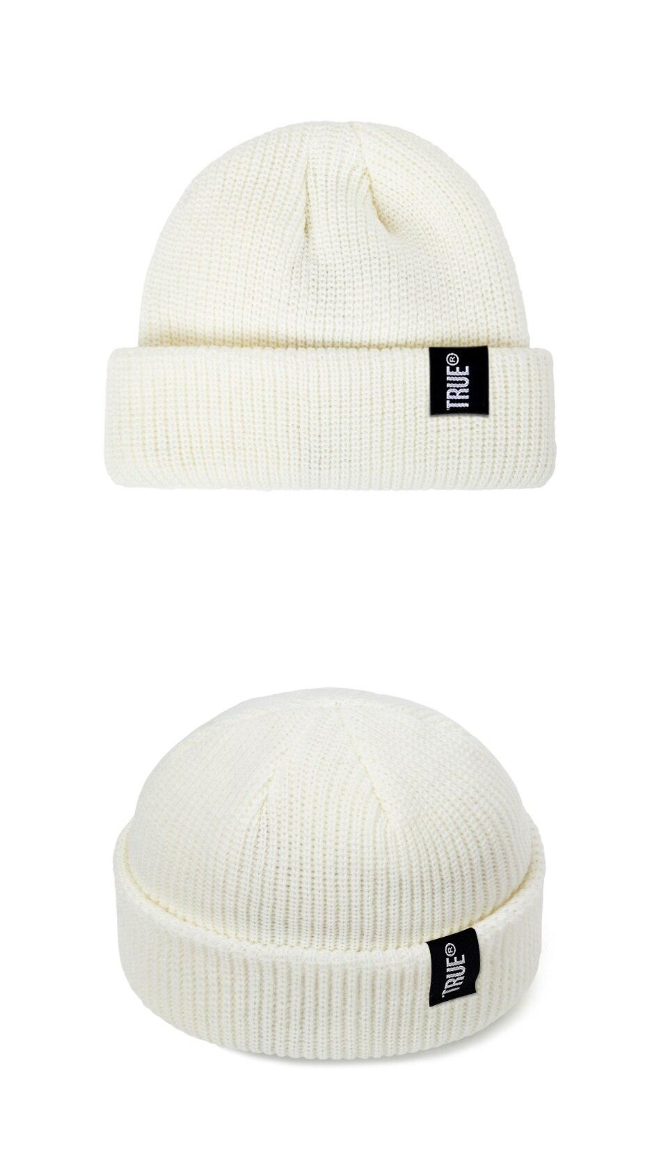 2019 Fashion Unisex Winter Hat Men Cuffed Cib Knit Hat Short Melon Ski Beanies Autumn Winter Solid Color Casual Beanie Hat 36