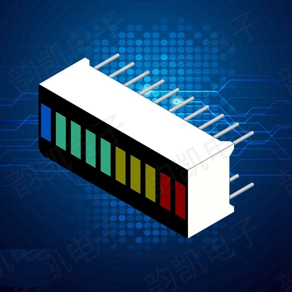2PCS LED Display Module 10 Segment Bargraph Light Display Module Bar Graph Ultra Bright Red Yellow Green Blue Colors Multi-color