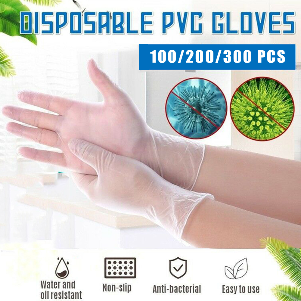 Anti Dust Disposable PVC Gloves 100pcs/lot Food Grade Waterproof Labor Allergy Free Work Safety Gloves Garden Gloves D30