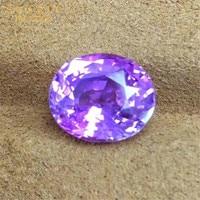 wedding engagement gemstone jewelry customization 5.15ct Sri Lanka violetish pink natural unheated sapphire loose stone