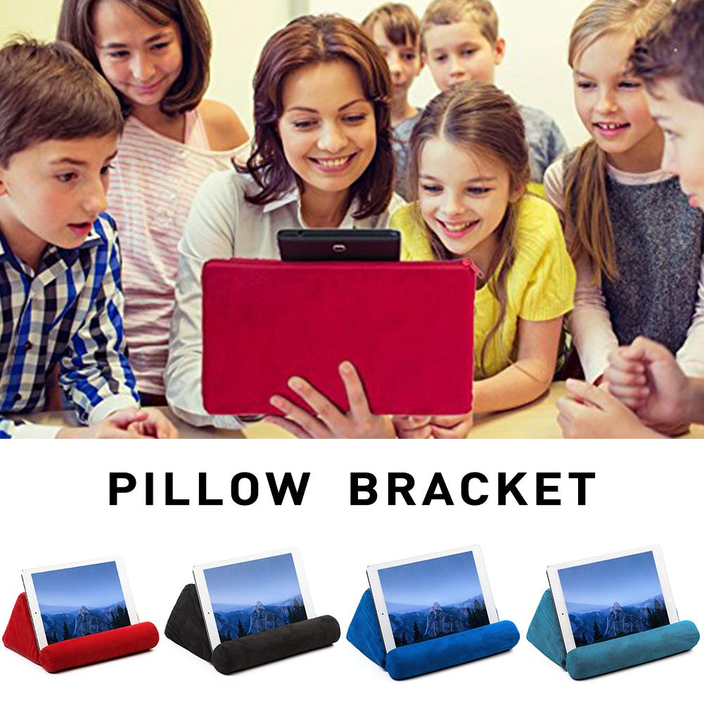 Pillow Pad For IPad Bracket Tablet Phone Bracket Soft Portable Sponge Pillow Sofa Reading title=