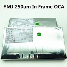 250um YMJ oca 접착제 사용 삼성 S10E 전면 유리 패널 oca 접착 라미네이트 lcd 수리