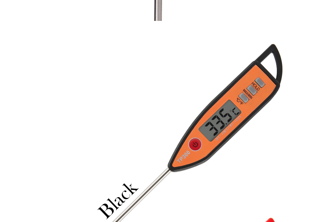 MOSEKO Newest Digital Food Thermometer for Cooked Food Barbecue and Milk with LCD Display and Temperature Control Key and Stainless Steel Probe 10