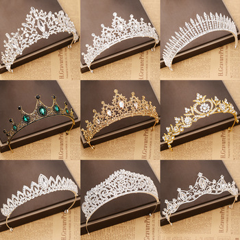 Trendy woman Crystal Crowns Tiara Wedding Hair Accessories Crown Bridal Tiaras And Crowns Hair Jewelry Wedding Hair Ornaments цена 2017