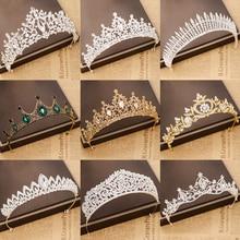 цена на gold silver crystal tiara hair accessories crown wedding crown bridal tiaras and crowns hair jewelry wedding hair accessories