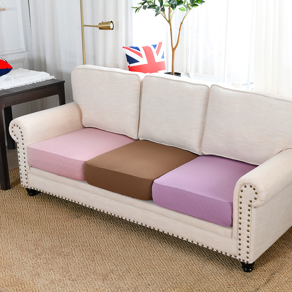 Jacquard Thick Seat Cushion Cover,Stretch Furniture Protector, Slipcover for Living Room Home Decor,1/2/3/4 Seater