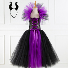 Witch Costume Long-Dress Girls Kids Princess for Ghost