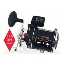 12bb carretel de pesca de alta velocidade acl 30/50d 3.8:1/5.2:1 profundidade elétrica contagem esquerda/direita multímetro corpo fundido tambor