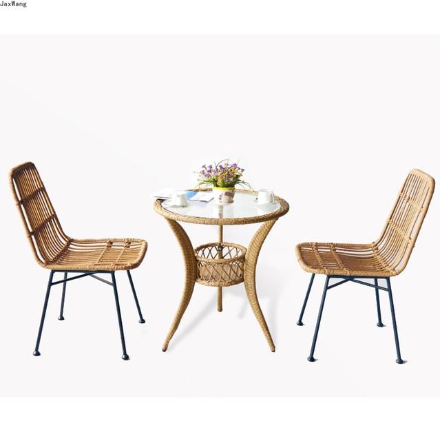 Hand-Woven Iron Balcony Chair 1