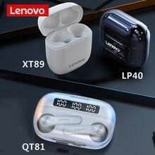 2021 nova lenovo xt89 lp40 qt81 tws fone de ouvido sem fio bluetooth controle ai gaming fones estéreo baixo com microfone redução ruído