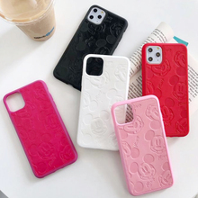 Cute Mouse Silicone Phone Case for iPhone 6s 7 8 Plus 7plus 8plus Soft leather Cover for iPhone 11 Pro MAX X XR 11Pro Coque