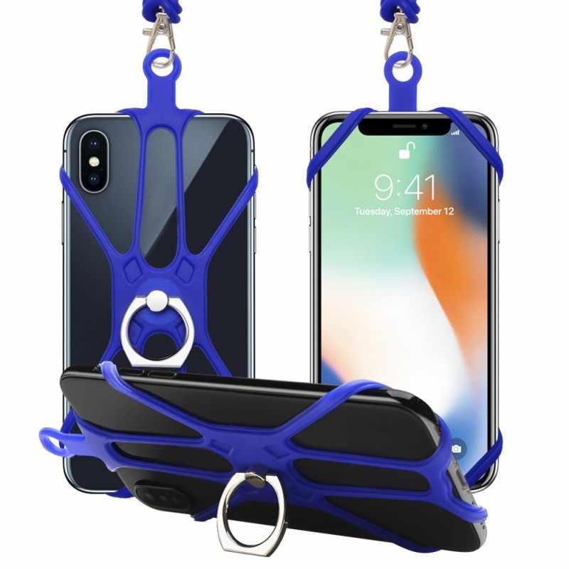 360 Gradi Girevole Anello Tracolla Cordicella Del Telefono di Caso Della Copertura Universale Della Cinghia Del Supporto