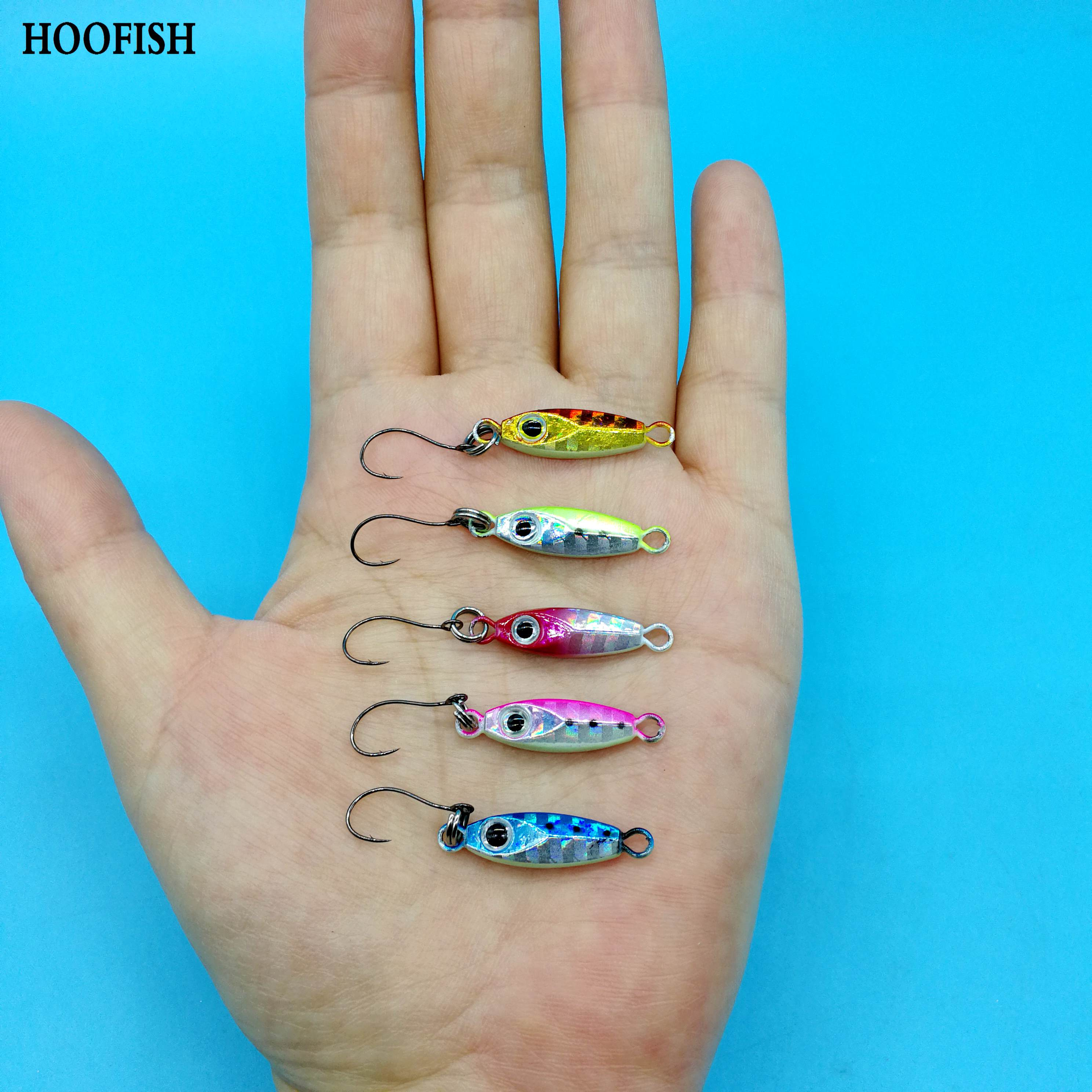 HOOFISH  10PCS/LOT  Metal Jig Spoon Lure  With Single Hook 3g/6g Shore Cast Artificial Hard Bait  Small Jig Lure