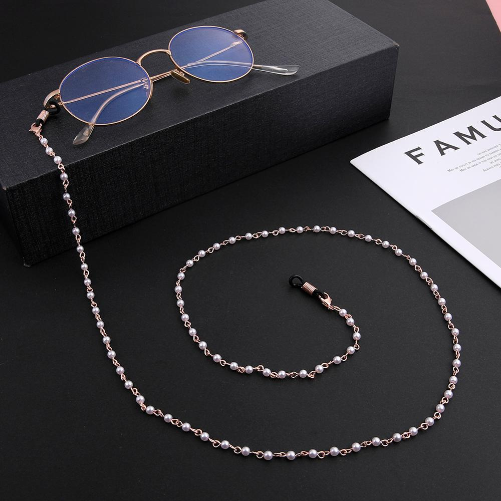 Skyrim Fashion Pearl Beaded Chain for Mask Women Girls Glasses Chains Lanyards Neck Strap Rope Reading Eyeglasses Cord Holder