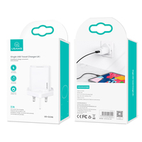 USAMS 2.1A Fast Charger for iPhone 12 11 Pro Max X Xs 8 7 Phone USB Quick Charging Travel Charger Portable for Xiaomi Huawei Samsung