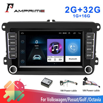 AMPrime 2 din Android Car Radios GPS Multimedia Player For VW/Volkswagen/Golf/Passat/b7/b6/Skoda/Seat/Octavia/Polo Auto Stereo image