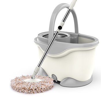 Rotary mop double drive automatic dry hand-free lazy lazy one mop home mopping net bucket set