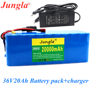 36V 10S4P 20000mAh 500W high power capacity 42V 18650 lithium battery pack 20Ah electric bicycle bicycle scooter BMS + charger(China)