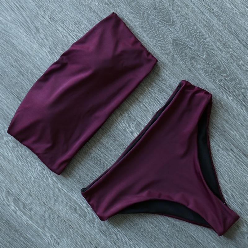 Hfd0a8b052fa24c6a96f49d70aedfc9dfG High Leg Bandeau bikini set Swimwear female two pieces swimsuit High Waist Bikini Women Bathing Suit biquini