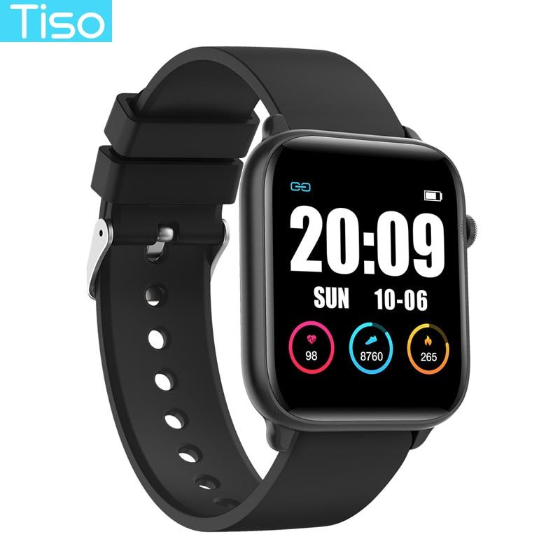 Tiso w37 Bluetooth smart watch band 1.3 inch screen sport sleep heart rate fitness blood pressure oxygen tracker IP68 waterproof 1