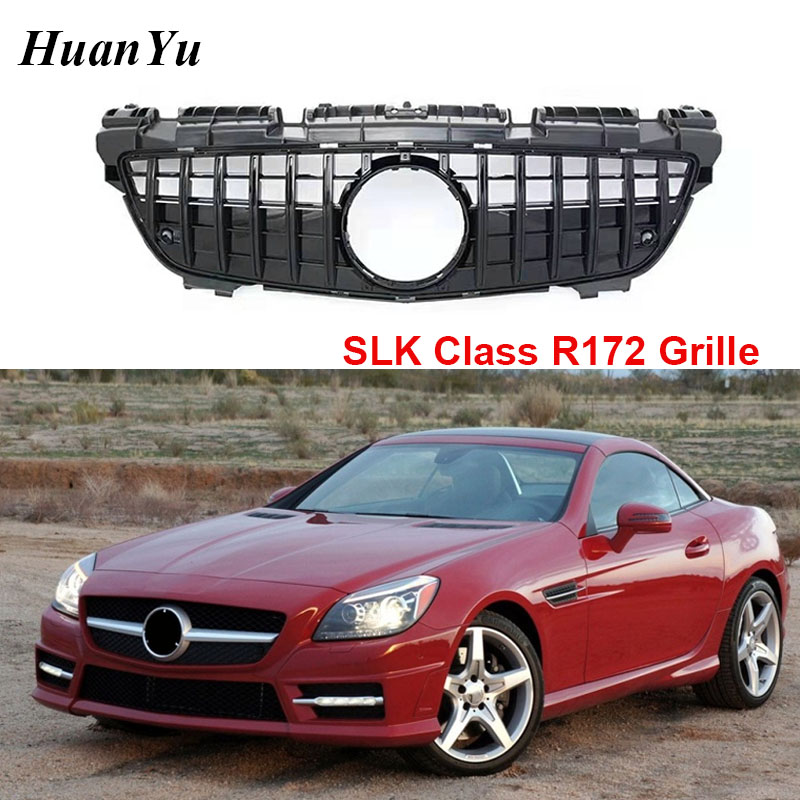 New R172 GT and Diamond Grille for <font><b>Mercedes</b></font>-<font><b>benz</b></font> <font><b>SLK</b></font> Class 2012-2016 Replacement Front Bumper Grills <font><b>SLK</b></font> 250 350 <font><b>200</b></font> image