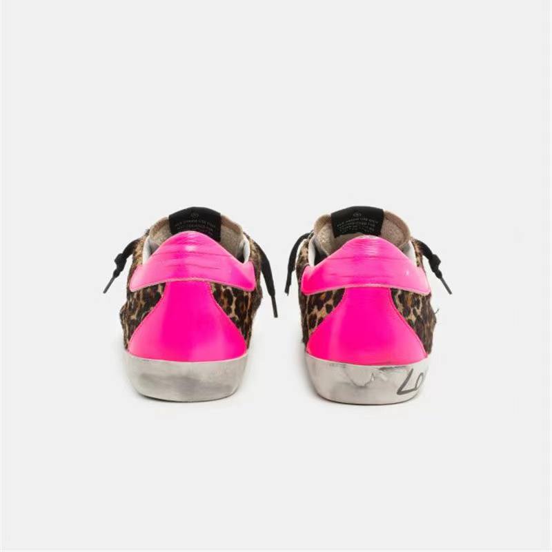 Spring/Autumn  New Children's  Leopard Print Horsehair Retro Dirty Dirty Kid Shoes Sequined Stars Casual Parent-child Shoes QZ22 3