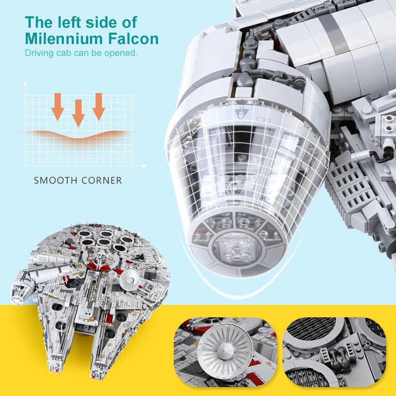 8445Pcs Forza Risveglia Millennium Falcon Destroyer Lepinblocks Blocchi di Costruzione di Modello Compatibile star wars 75192 05132