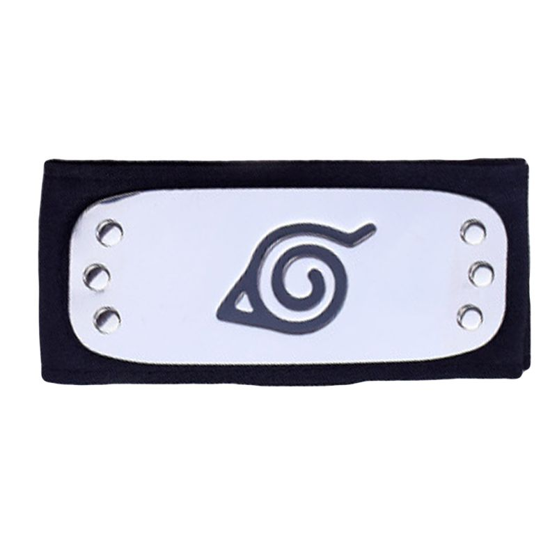 Headband Forehead-Protector Logo Japanese-Anime Metal Adult Plated Kids