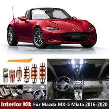 8 pçs lâmpadas led canbus led kit de luz interior para mazda MX-5 miata 2016 2017 2018 2019 2020 tronco luz da placa licença