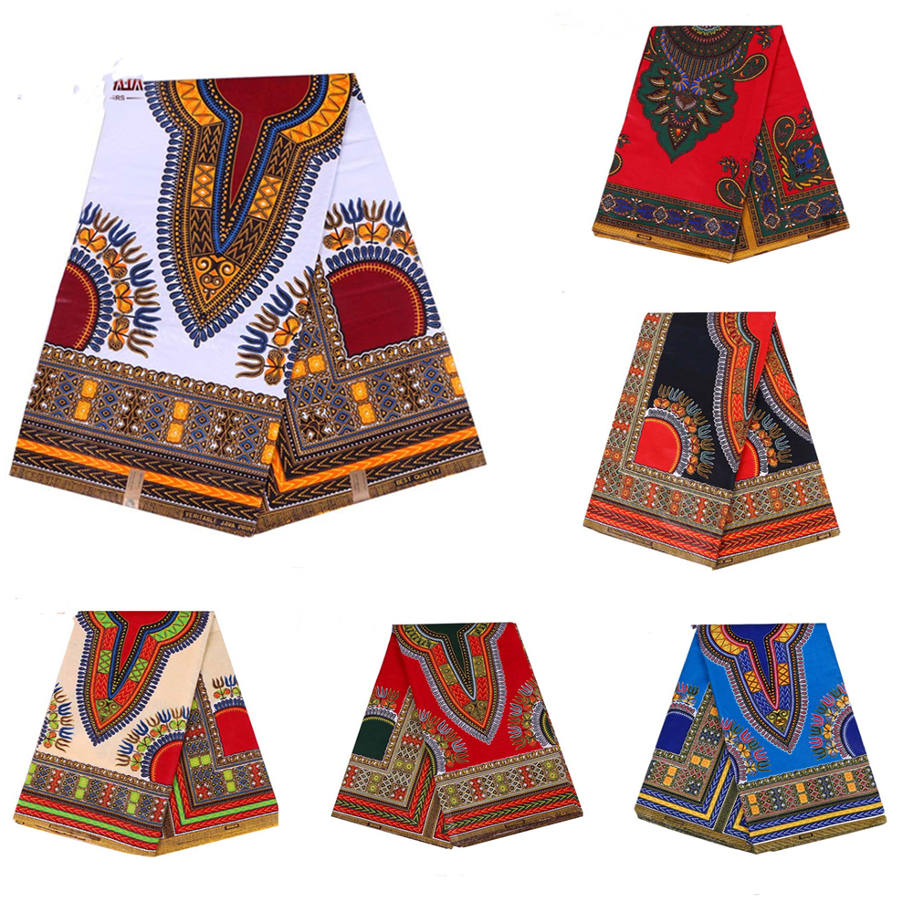 Spring Waxed African Fabric Comfortable Cotton Kent Traditional Flower Pattern Handmade Material Sewing Ladies Party Skirt
