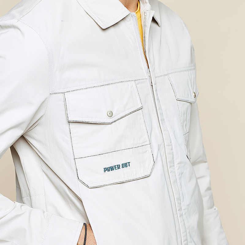 Kuegou 2019 outono bordado jaqueta casual masculino e casacos para outwear streetwear japonês coreano caça roupas vintage 9225