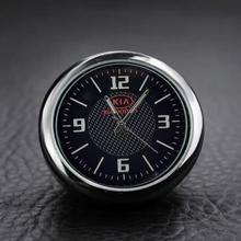 Автомобильные часы с логотипом аксессуары для украшения салона приборной панели для KIA OPTIMA K5 K2 K3 K7 KX1 KX3 KX5 KX7 CERATO Sorento sportage Rio