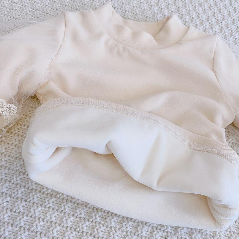 New Baby Girls Clothes Autumn Winter Turtleneck Princess Sweaters Puff Lantern Sleeve Pullovers Kids Tops Warm Children Korean 5