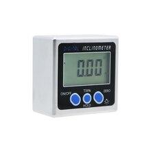 מיני אלקטרוני דיגיטלי מד זווית דיגיטלי זווית finder מגנטי בסיס inclinometer זווית כלי מדידת כלים