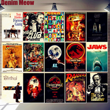 Movie Posters Film Plaque Vintage Metal Tin Signs Cafe Bar Cinema Decor E.T. JAWS Jurassic Park Retro Painting Wall Sticker N311 крышка аккумулятора acer n311