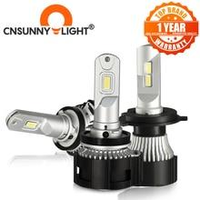 Cnsunnylight h4 canbus led h7 h11 h8 hb4 farol do carro 9005 hb3 d1 9012 lâmpada automática 104w 16000lm nenhum erro 6500k luzes estilo do carro