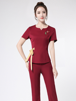 2020 women medical uniforms nurse scrubs medical uniforms spa salon workwear dentists scrub sets horeca clothes waiter clothes