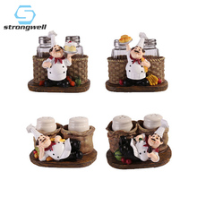 цена на Strongwell Modern Chef Pepper Bottle Model Figurine Chef Ornament Creative Chef Home Decoration Accessories Gifts Cartoon