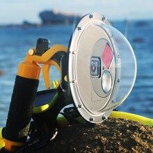 Soonsun Duiken Dome Poort Onderwater Waterdichte Behuizing Case Lens Dome Cover Voor Gopro Hero 7 6 5 Zwart Go Pro 7 Accessoires