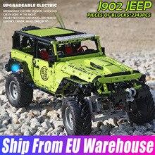 Yeshin J902 High-tech SUV Off Road Car MOC-5140 Jeeped Wranglersd Rubicon Set Building Blocks Bricks Kids Toys Birthday Gifts