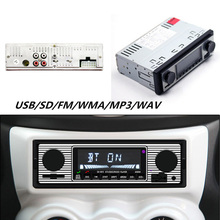 Auto Car Stereo FM Retro Radio LCD Screen Car 12V MP3 Player Bluetooth Stereo MP3 USB AUX WAV FM Frequency Modulation Function fm micro smd radio diy kit frequency modulation electronic production training