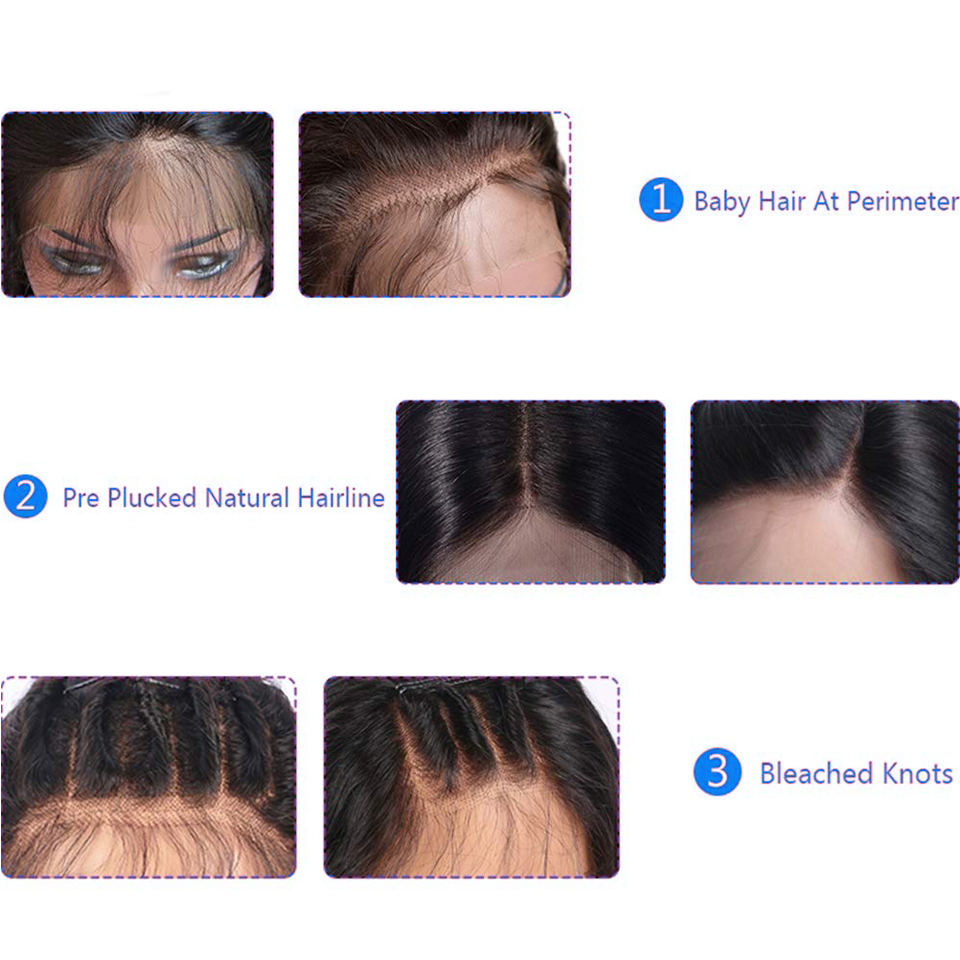 13x4 Lace Front  Wigs  Straight  Wigs 150% density Frontal Wig Pre Plucked 13x4 Lace Closure Wigs 6