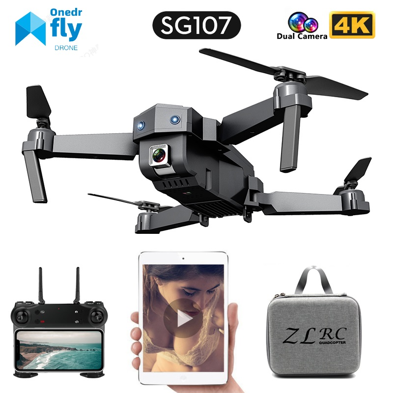 SG107 Mini Drone 4K FPV WIFI Single camera drone profissional Dual camera Optical flow Modular battery RC Quadcopter Child Gift