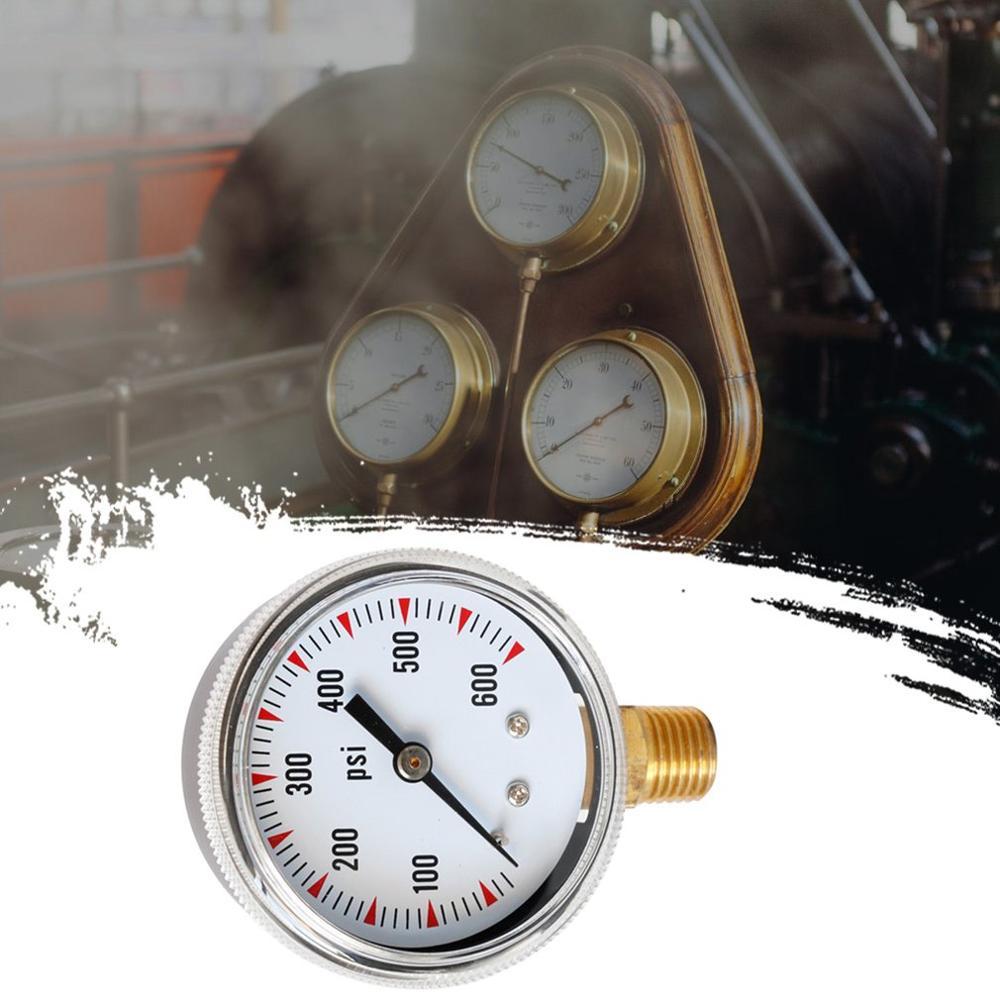 Radial Y50 Pressure Gauge Barometer Hydraulic Gauge Water Pressure Gauge 0-600Psi Precision Water Pressure Gauge